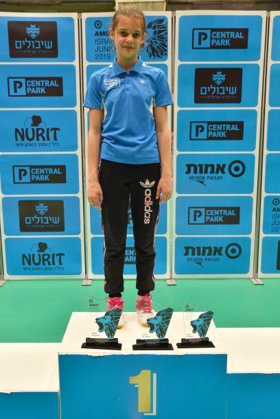 אלינה ברגלסון הלודאית קטפה 2 מדליות זהב ואחת מכסף באליפות ישראל הבינלאומית בבדמינטון