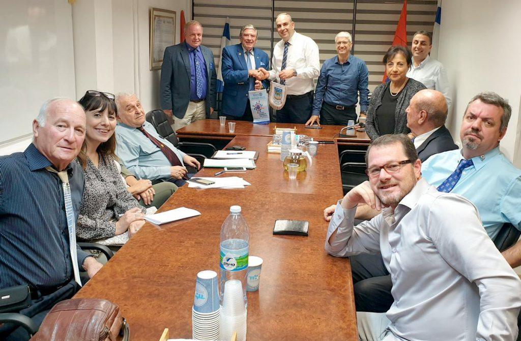 נגיד רוטרי ישראל התארח בלוד ונפגש עם ראש העיר