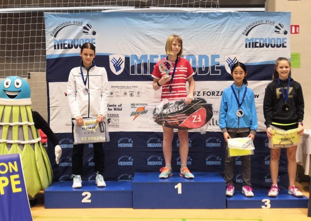 מקום שני באליפות בינלאומית לנוער בסלובניה בענף הבדמינטון
