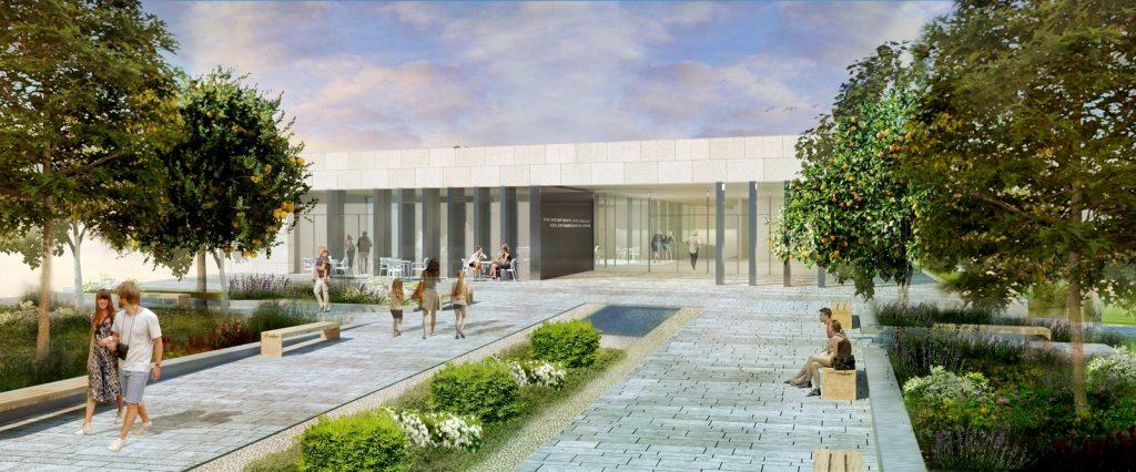 הדמיה של מוזיאון הפסיפס שייחנך בעוד כחצי שנה