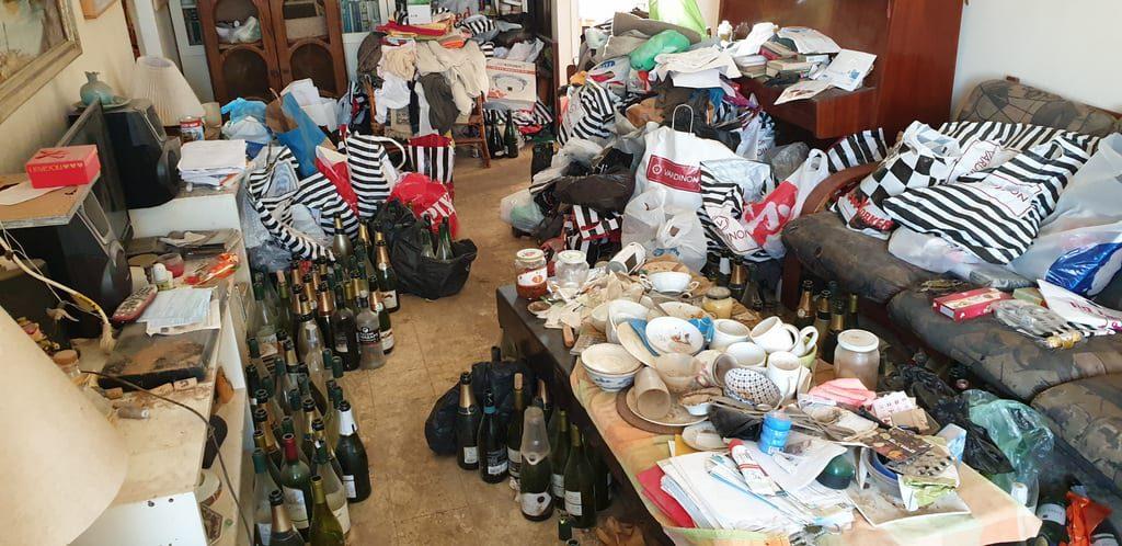 פינוי דירה ניקיון וסדר בדירה עמוסה פסולת ברמלה